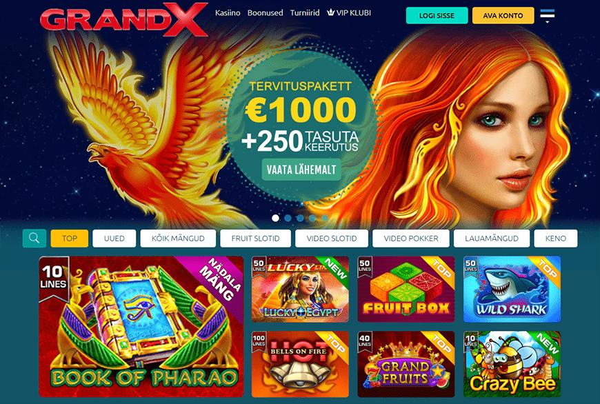 GrandX veebileht